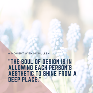 a moment with mcmullen quote tower design graphic