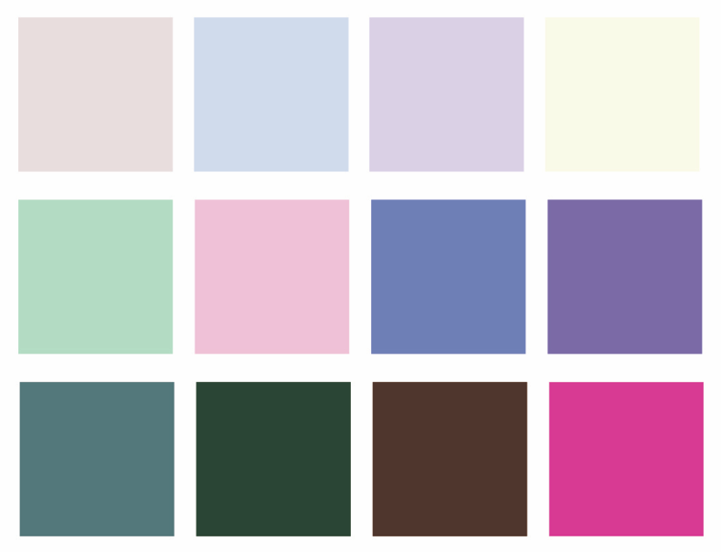 cool toned color palette for interior designers